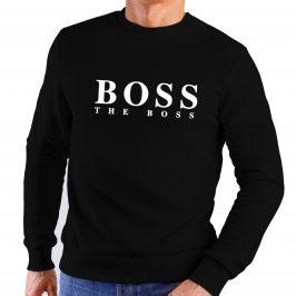 Bluza męska czarna BOSS – The Boss klasyczna