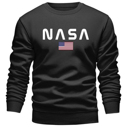 Bluza NASA męska bez kaptura czarna