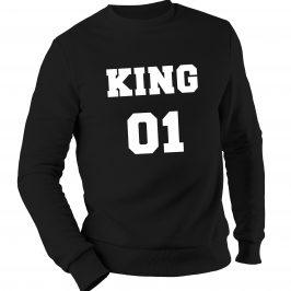 KING 01 męska bluza bez kaptura