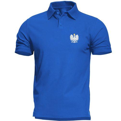 koszulka polo polówka męska patriotyczna niebieska