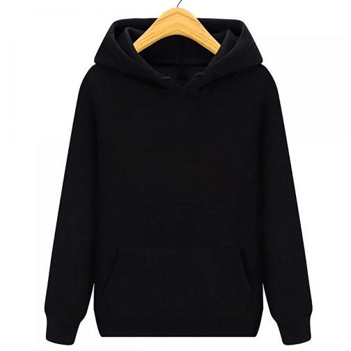 bluza damska z kapturem kangurka czarna