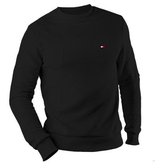 bluza tommy bez kaptura czarna