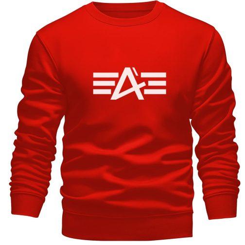 bluza alpha jak industries bez kaptura czerwona