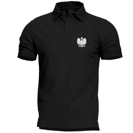 koszulka polo polówka męska patriotyczna czarna