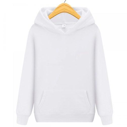 bluza damska z kapturem kangurka biała