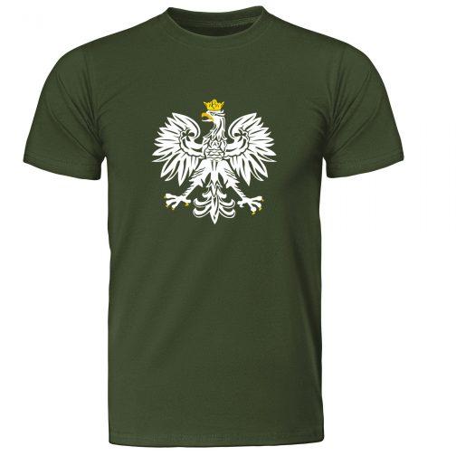 koszulka t-shirt patriotyczna z orłem polski zielona