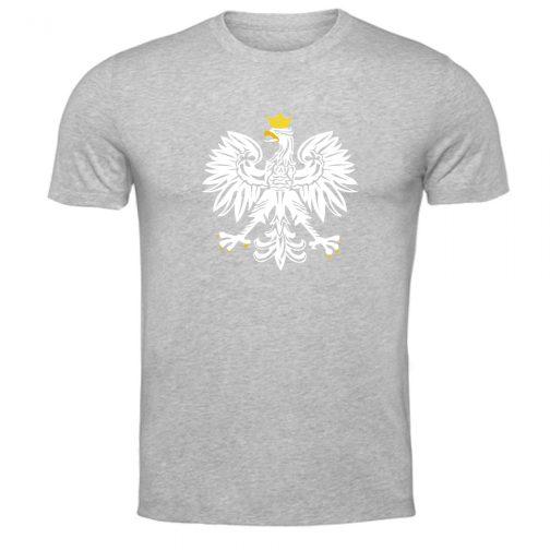 koszulka t-shirt patriotyczna z orłem polski szara