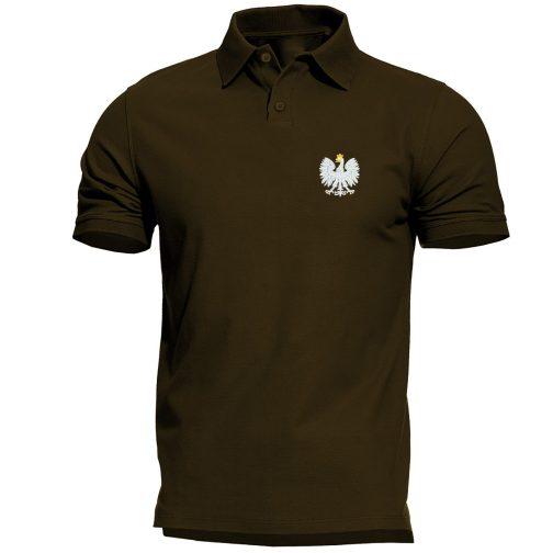 koszulka polo polówka męska patriotyczna zielona