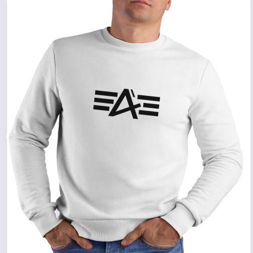 bluza alpha jak industries bez kaptura biała