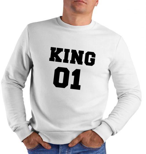 king 01 król bluza męska bez kaptura