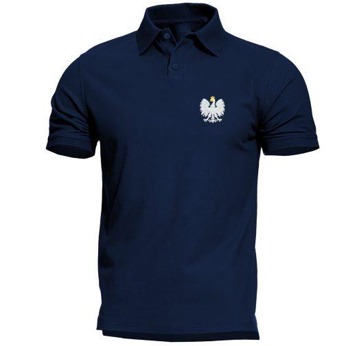 koszulka polo polówka męska patriotyczna granatowa