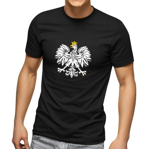 koszulka t-shirt patriotyczna z orłem polski czarna