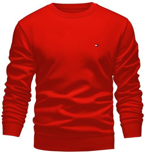 bluza tommy bez kaptura czerwona