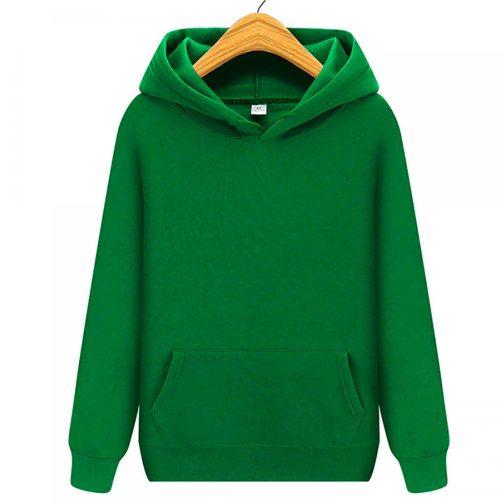 bluza damska z kapturem kangurka zielona