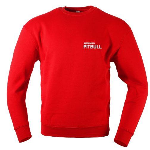 bluza męska pitbull bez kaptura czerwona