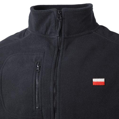 Ciepły Polar męski z flagą Polski na piersi haft