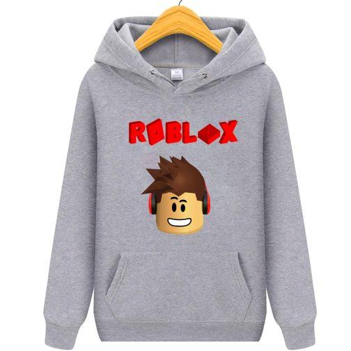 roblox bluza dziecka z kapturem szara