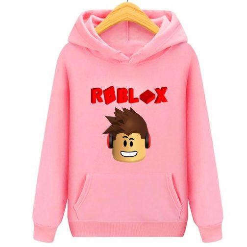 Roblox 3d bluza z kapturem kangurka różowa