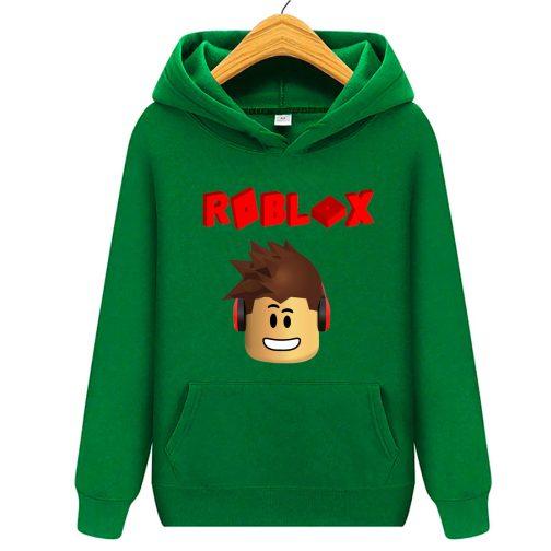 Roblox 3d bluza z kapturem kangurka zielona