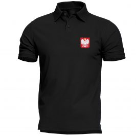 Koszulka polo męska z godłem Polski