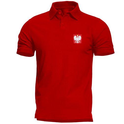 koszulka polo męska z godłem polski czerwona