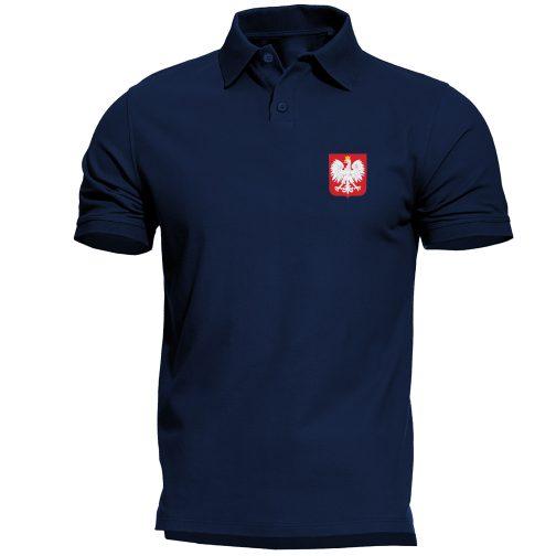 koszulka polo męska z godłem polski granatowa