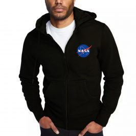 NASA Bluza męska z kapturem rozpinana na zamek