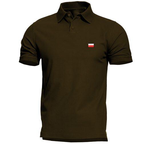 Haftowana Patriotyczna koszulka polo flagą polski