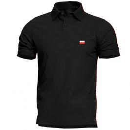 Haftowana patriotyczna koszulka polo z flagą Polski