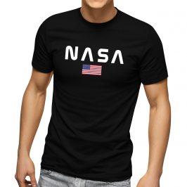 NASA męska koszulka z flagą Amerykańską – t-shirt