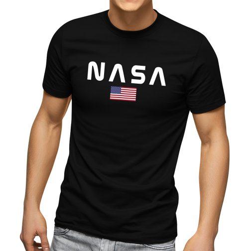 Koszulka męska nasa t-shirt czarna