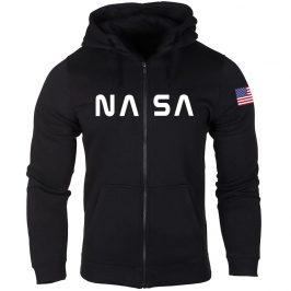 NASA Bluza męska rozpinana na zamek z kapturem