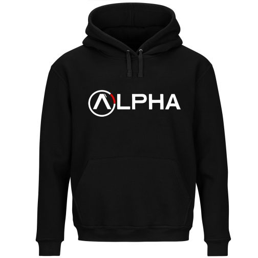 alpha bluza z kapturem męska czarna kangurka