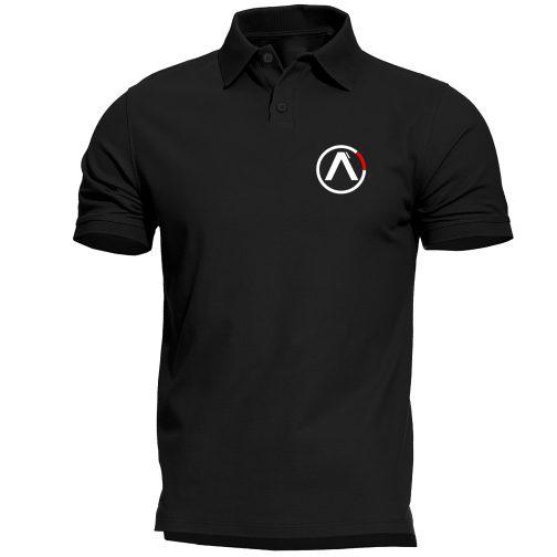 koszulka polo alpha alfa czarna męska industries
