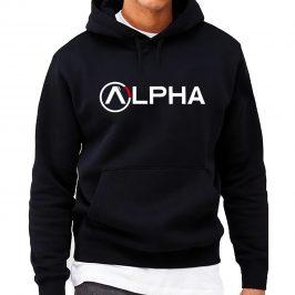 ALPHA  – markowa męska bluza z kapturem – kangurka
