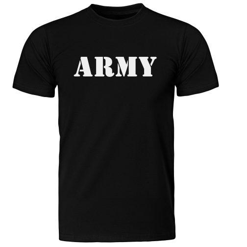 męska koszulka wojskowa army militarna czarna