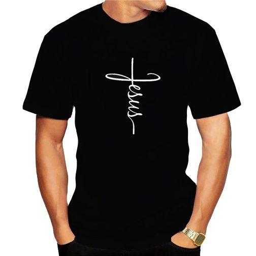 t-shirt chrześcijańska męska koszulka z jezusem czarna