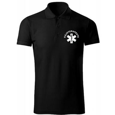 koszulka fla fizjoterapeutów fizjoterapeuta męska czarna