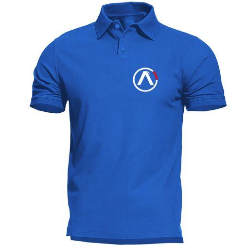 koszulka polo alpha alfa niebieska męska industries