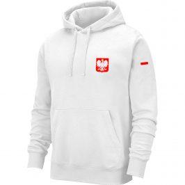 Bluza męska patriotyczna z godłem Polski – biała kangurka