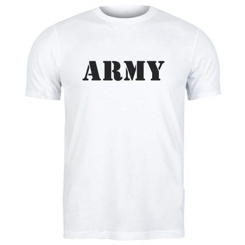 męska koszulka wojskowa army militarna biała