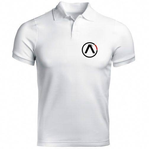 koszulka polo alpha alfa biała męska industries