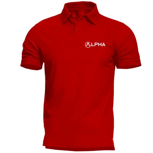 koszulka polo alpha alfa czerwona męska industries