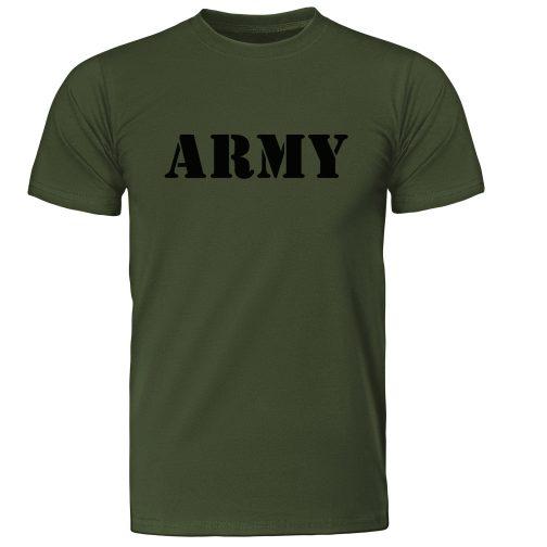 męska koszulka wojskowa army militarna zielona