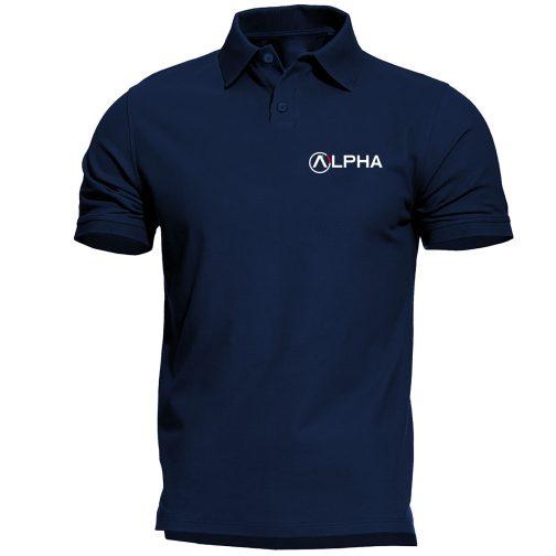 koszulka polo alpha alfa granatowa męska industries