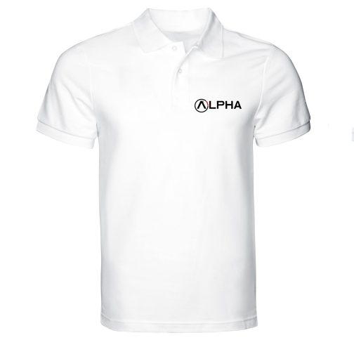 koszulka polo alpha męska biała industries