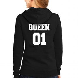QUEEN 01 Królowa – bluza damska z kapturem typu kangurka