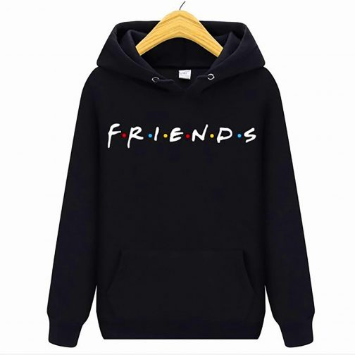 bluza damska przyjaciele friend kapturem czarna