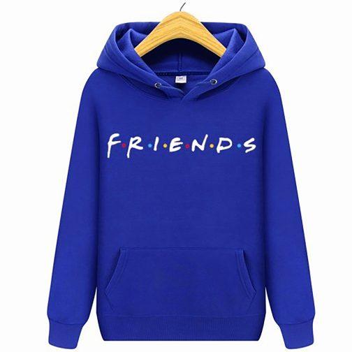 bluza damska przyjaciele friend kapturem niebieska