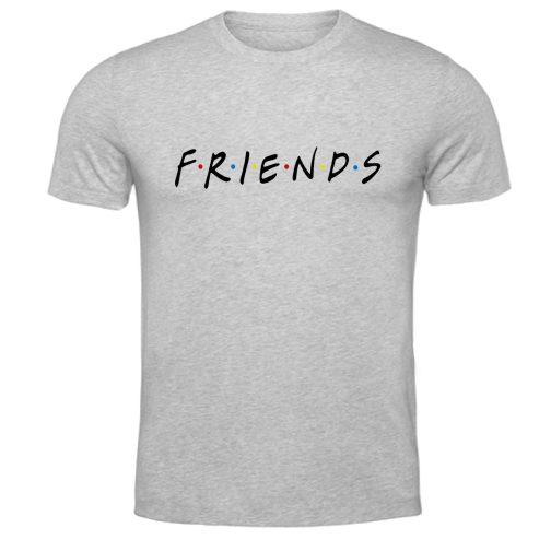 męska koszulka t-shirt friends przyjaciele szara